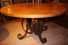 Copper Dining Table w/Iron Base