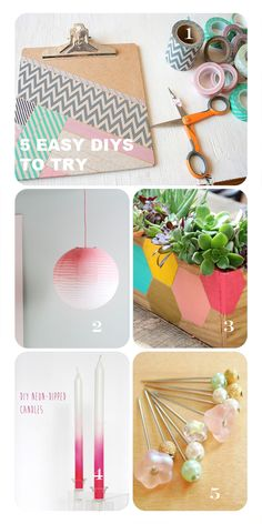 5 Easy DIY Projects To Try