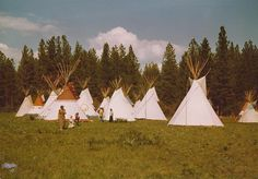 More of the Tipi Camp at the Camus Meadows Mountain Man Rendezvous about Mountain Man Rendezvous, Fur Trade, Teepees, Vintage Pictures, Tents, Habitats, Primitive, History, Painting