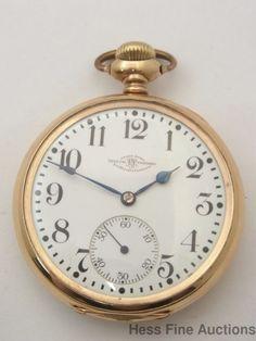 feb3fd1b292 Antique 23J Ball Official Railroad Standard B603498 Lever Set Mens Pocket  Watch