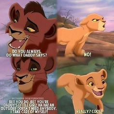 Kiara and Kovu Disney Pixar, All Disney Movies, Disney Time, Disney Jokes, Disney And Dreamworks, Lion King Funny, Lion King Movie, Disney Lion King, Lion King 2 Kovu