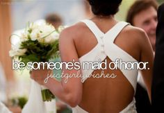 To do up the back of their dress and catch the flowers when there thrown