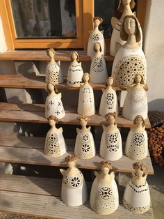 Ceramic Jewelry, Ceramic Clay, Ceramic Texture, Ceramic Angels, Ceramic Candle Holders, Masks Art, Clay Figures, Clay Animals, Clay Projects