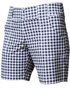 JoFit Belted Golf Short Grey Buffalo Check   #golf4her #golfclothes