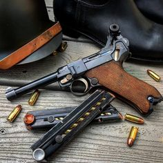 Weapons Lover The German Luger was made by DWM in and issued to the German Army During the Weimar Republic, and then again in A True Classic. Military Weapons, Weapons Guns, Guns And Ammo, German Soldiers Ww2, German Army, Luger Pistol, Revolvers, Cool Guns, Assault Rifle