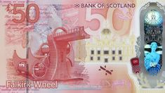 New Falkirk Wheel and Kelpies £50 note design revealed - BBC News Falkirk Wheel, Canal Barge, Scottish Culture, Notes Design, National Treasure, Scotland, Photo Gifts, The Incredibles, Neon Signs