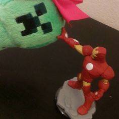 Iron Man is so sweet. He tells me everything will be alright when I'm sad. For being made of metal he's a big old softie to me. #creepiegoes #creepers #creeper #minecraft #minecraftonly #ironman #marvel #disneyinfinity #starwars #gaming #geek #toys #statues #wiiu #playstation #infinity #nintendo #disney #toyphotography #ps4 #videogames #ps3 #disneyside #xboxone