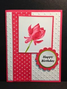 Lotus Blossom, Birthday Card, Stampin' Up!, Rubber Stamping, Handmade Cards Quick Cards