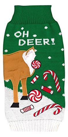 Holiday Sweaters Oh Deer Dress Medium ** Check this awesome product by going to the link at the image.
