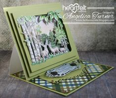 Hi friends, today I'm sharing a masculine easel anniversary card I made featuring the Woodsy Wonderland collection from Heartfelt Creation. Masculine Birthday Cards, Handmade Birthday Cards, Masculine Cards, Handmade Cards, 3d Cards, Pop Up Cards, Stampin Up Cards, Easel Cards, Fancy Fold Cards