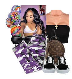 """birthday fit "" by lanadabest on Polyvore featuring Louis Vuitton and Vans"