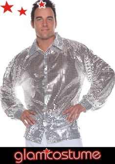 Get your disco on! Perfect for a party, disco event or Halloween party, this shiny silver shirt is a versatile Halloween costume for men. Mens Disco Costume, 70s Costume, Costume Shop, Adult Costumes, Men's Costumes, Costume Ideas, Mens Halloween Fancy Dress, Halloween Party, Halloween Stuff