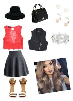 """""""not good with titles"""" by wintergrlgaming on Polyvore featuring Chicwish, Bebe, Miu Miu, Maison Michel, M&Co and Lipsy"""