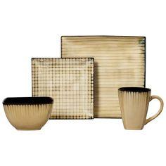 Thanksgiving Decor Target Free Shipping Threshold™ 16 Piece Bamboo Pattern Dinnerware Set - Tan (scheduled via http://www.tailwindapp.com?utm_source=pinterest&utm_medium=twpin&utm_content=post113520319&utm_campaign=scheduler_attribution)