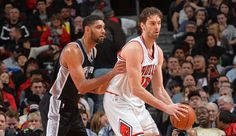 Tim Duncan & Pau Gasol - San Antonio Spurs vs Chicago Bulls