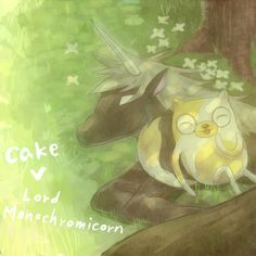 cake and lord monochromicorn - adventure-time-with-finn-and-jake Photo