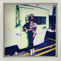 Shirt by Patricia Field, American Apparel leggings, Isabelle Marant sneakers.
