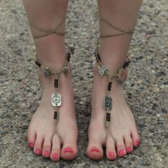 Handmade Peace Fairy Barefoot Sandals from Hippies Hope Shop