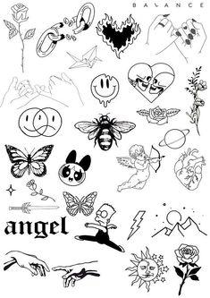Flash Art Tattoos, Body Art Tattoos, How To Draw Tattoos, Finger Tattoos, Sleeve Tattoos, Ankle Tattoos, Tattoo Flash Sheet, Leg Tattoos Women, Finger Tattoo Designs