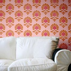 Dedicated to one of India's most beautiful cities, the Jaipur Flower Garden Allover Wall Stencil is inspired by its rich cultural heritage, bold Indian design,