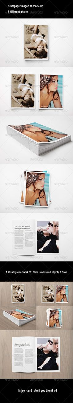Newspaper Magazine MockUp #journalmockup #magazinemockup Download: http://graphicriver.net/item/newspaper-magazine-mock-up/7401941?ref=ksioks