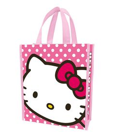 This Pink Polka Dot Hello Kitty Recycled Tote Bag - Set of Two is perfect! #zulilyfinds