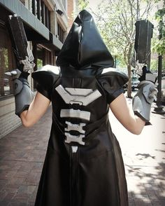 I don't think I ever posted a picture of the back of my Reaper. I really tried to make the jacket as cannon as possible and I feel like I did a pretty ok job. Photo by @eurobeat_kasumi_ebk