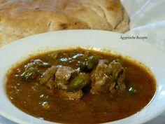 Ägyptisches Rezept für Okra - Okraschoten mit Fleisch - Bamia Rezept