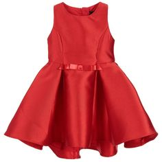 Fun & Fun - Girls Red Satin Dress | Childrensalon