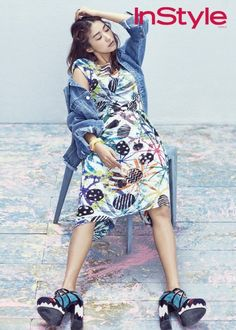 SISTAR's Bora wears colorful patterns for 'InStyle' | allkpop.com