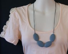 Mary - Grey $19 silicone teething necklace