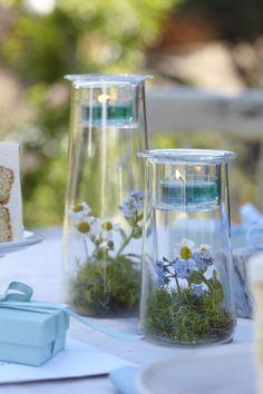 Świeczniki Symetria + Niezapominajki = Niezapomniane połączenie :) #partylite #flowers #spring #forget-me-not