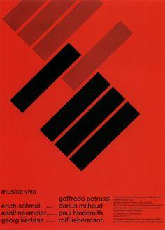 Zurich Tonhalle, Musica Viva. Poster di Josef Müller-Brockmann, 1958.