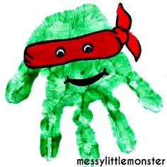 Messy Little Monster: Teenage Mutant Ninja Turtle Handprint