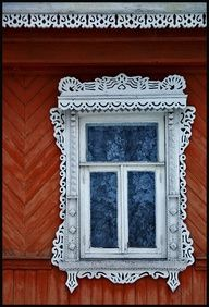 Pretty frilly window in Russia