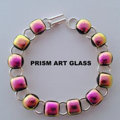 Pretty Candy Pink and Pastel Orange Dichroic by prismartglass, Pink Candy, Glass Art, Pastel, Orange, Unique Jewelry, Handmade Gifts, Pretty, Kid Craft Gifts, Pink Treats