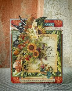 Freedom (French Country Card) by Victoria Petrenko. Stunning #graphic45 #cards