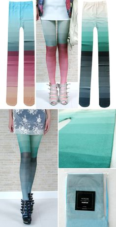 Ombre tights by kronkron.
