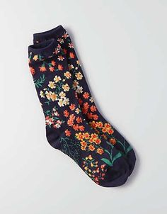AEO Floral Crew Socks