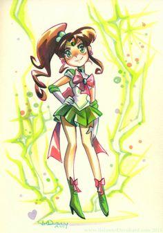 Sailor Jupiter by Brianne Drouhard Sailor Jupiter, Arte Sailor Moon, Sailor Moon Fan Art, Sailor Moon Character, Sailor Moon Crystal, Sailor Venus, Sailor Mars, Sailor Neptune, Chibi