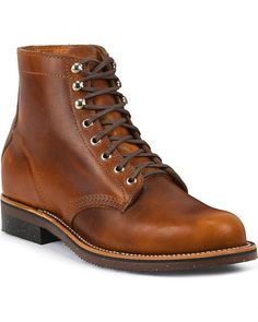 Chippewa Men's 1939 Original Tan Service Boots - Round Toe