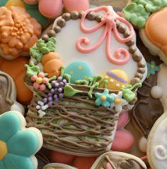 Easter basket cookies.  So delightful.  TG