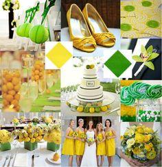 Lemon Yellow and Kelly Green Wedding