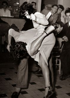 vintage everyday: At Café Saint Germain des Prés, Paris, France, 1948