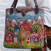 Master's shop Girl N (Natasha Gurina): same … - Nahen Wool Applique Quilts, Wool Quilts, House Quilt Patterns, Purse Patterns, Patchwork Bags, Quilted Bag, Wet Felting, Needle Felting, Felt Purse