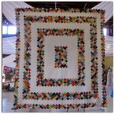 """This """"Boston Commons"""" quilt is by Patricia Byron. It is entirely hand stitched and quilted."""