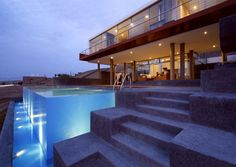Awesome Beach Houses with Pools View wood railing at http://awoodrailing.com