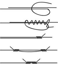 How to make sliding knots for jewelry.
