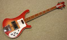 Vintage 1975 Rickenbacker 4001 FireGlo Bass Guitar