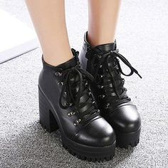 Buy 'Mancienne – Lace-Up Chunky-Heel Ankle Boots' with Free International Shipping at YesStyle.com. Browse and shop for thousands of Asian fashion items from China and more!